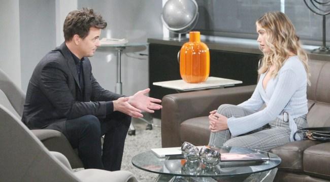 Wyatt talks to Flo on Bold and Beautiful