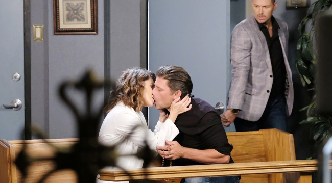 brady catches eric kissing sarah on days of our lives