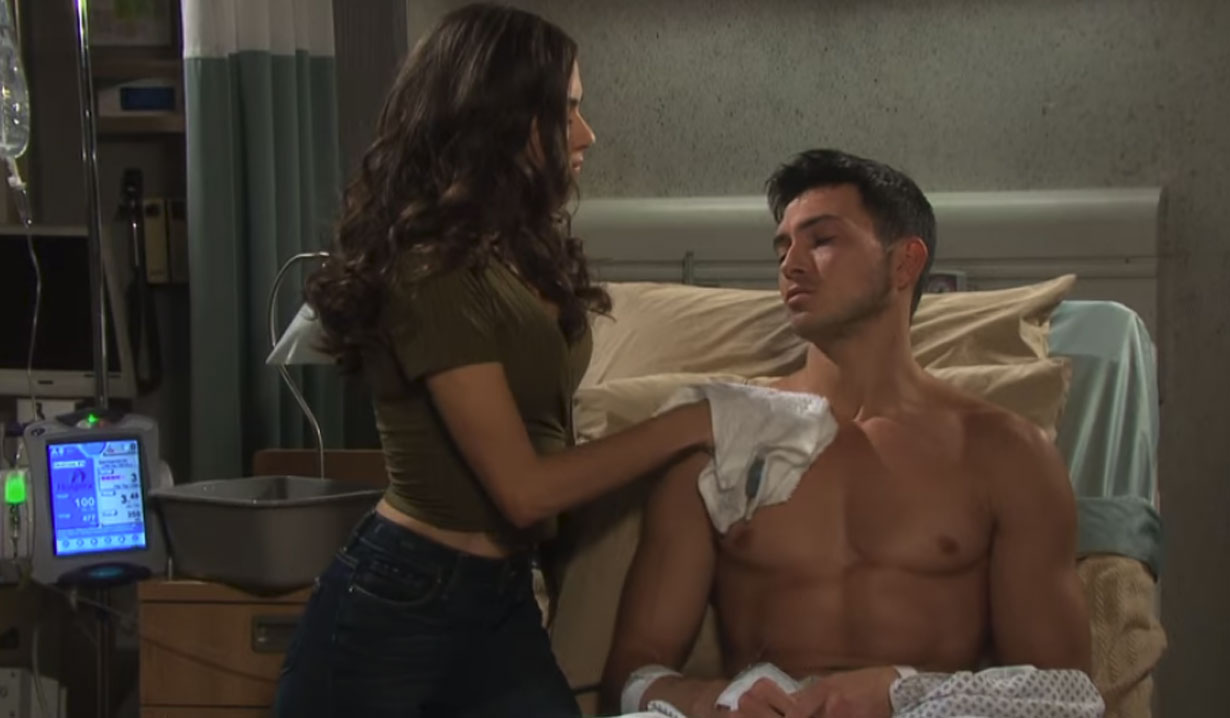 ciara gives ben a sponge bath on days of our lives