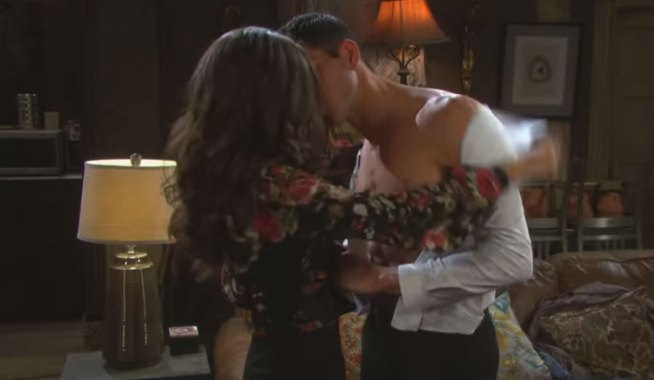 ciara takes be's shirt off on days of our lives