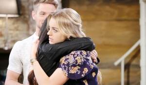 claire hugs haley on days of our lives