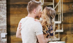 tripp kissing claire at loft days of our loft