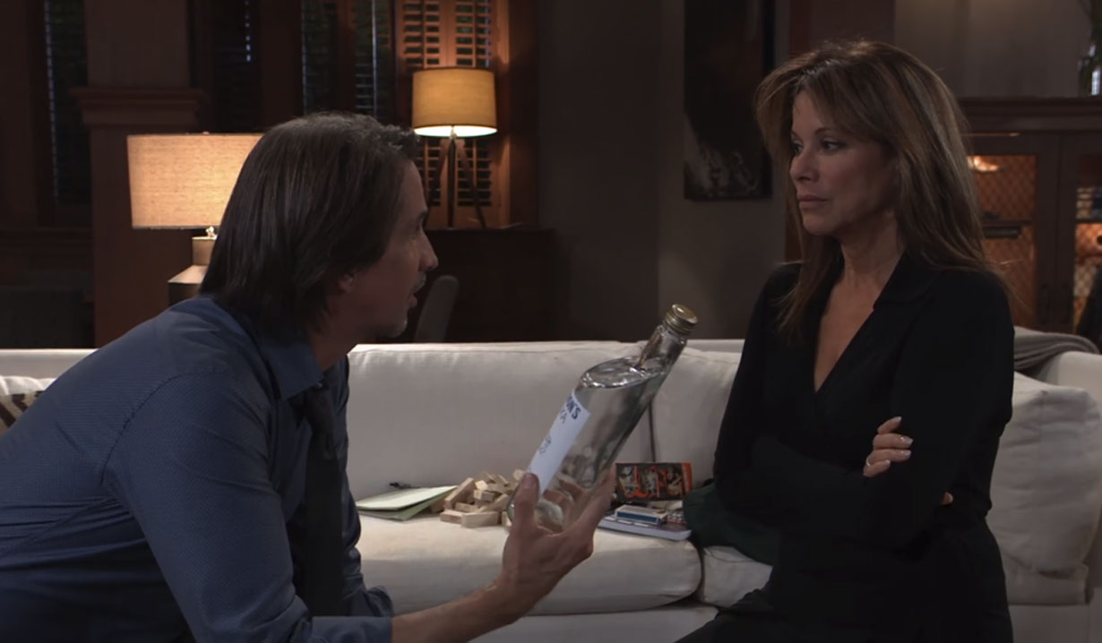 finn talks to alexis about booze general hospital