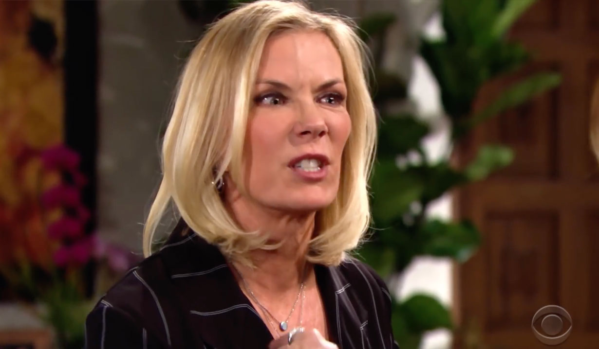 Brooke is angry on Bold and the Beautiful