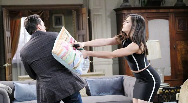 Photos of Stefan & Gabi's Gabi Chic Argument and Brady Witnesses a Secret Kiss
