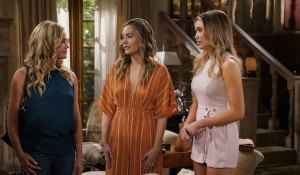 hope meets flo's mom shauna on bold and the beautiful