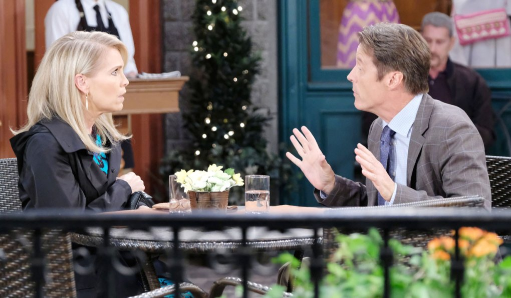 jenn and jack argue in the square on days of our lives