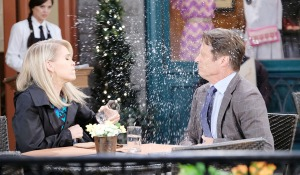 jenn throws water jack's face days of our lives