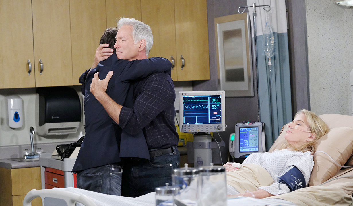 john hugs son leo on days of our lives