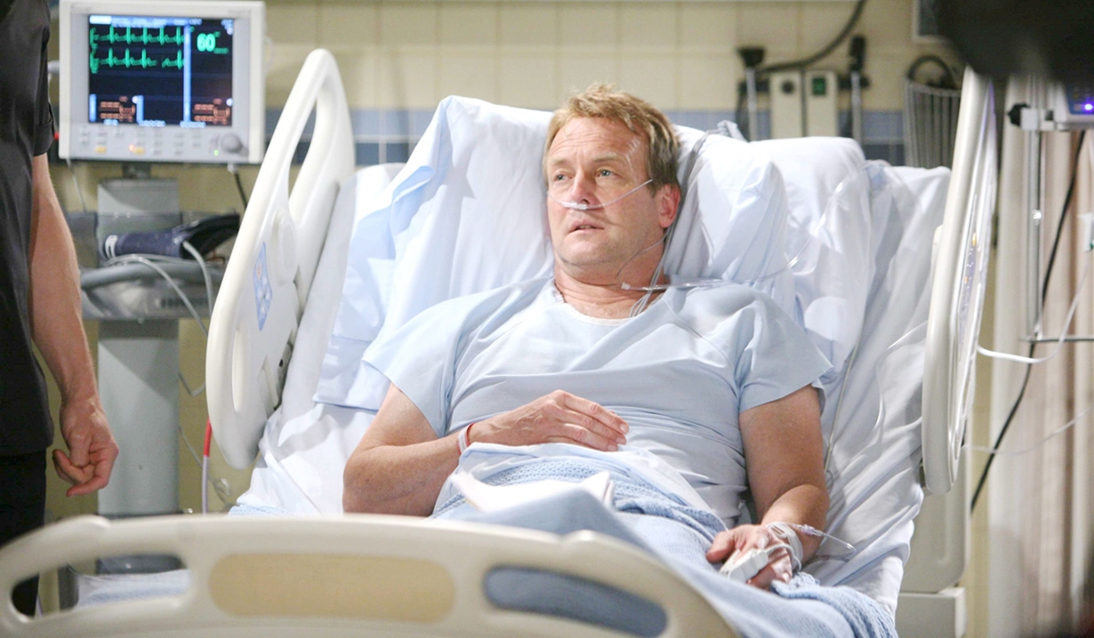 Paul in hospital on Young and the Restless