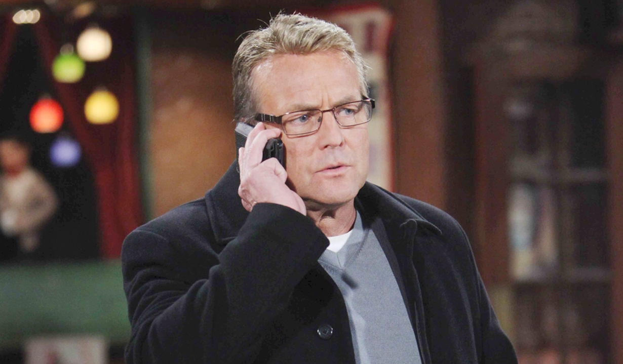 paul on a call on young and the restless