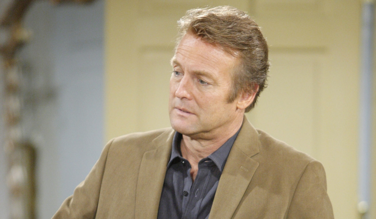 Paul in a tan suit on Young and the Restless
