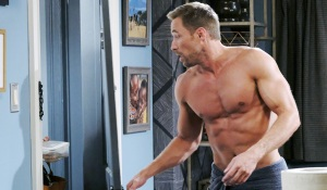 rex shirtless at door on days of our lives