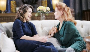 sarah and maggie on sofa on days of our lives