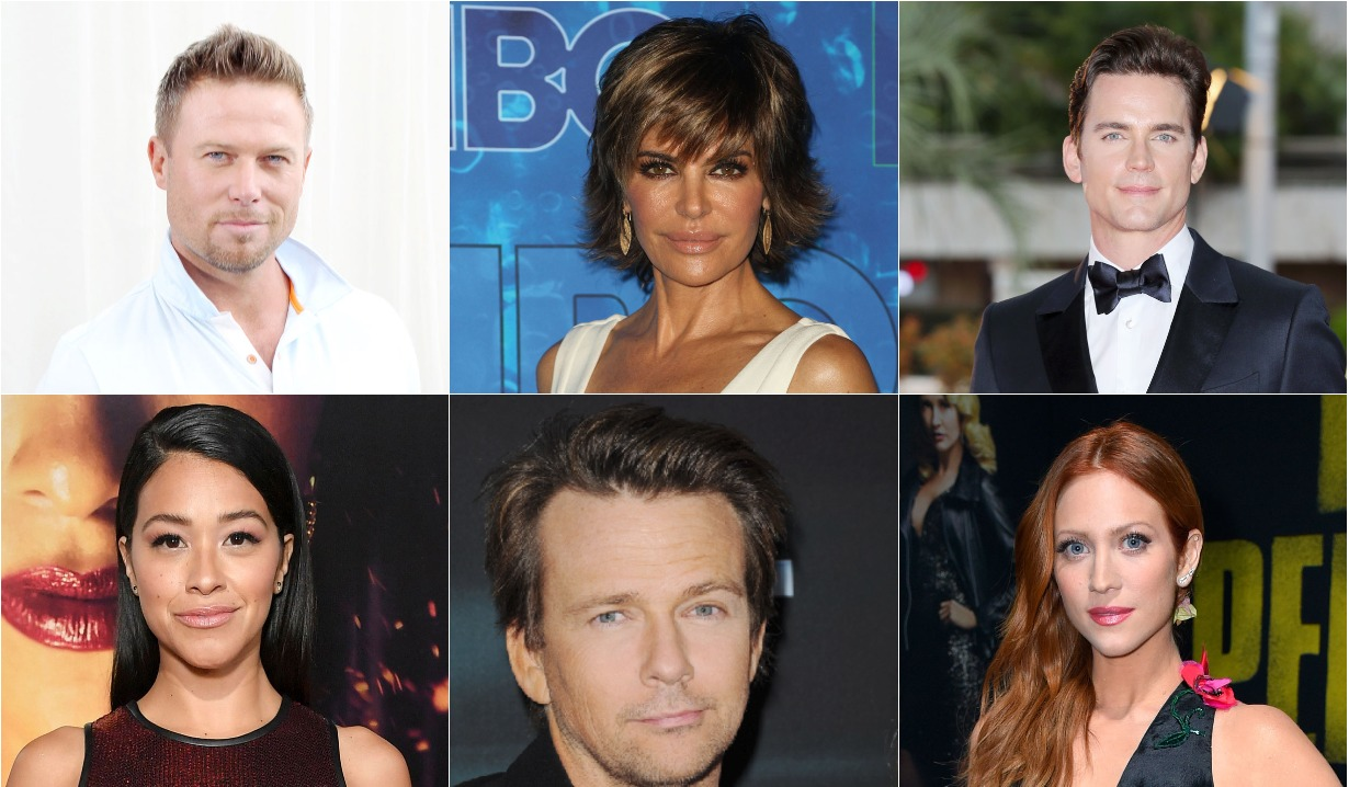 Lisa Rinna, Jacobo Young, Matt Bomer, Gina Rodriguez, Sean Patrick Flanery, and Brittany Snow.