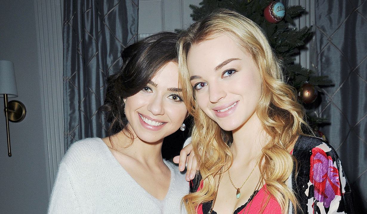 Olivia Keegan, Victoria Konefal on set days of our lives