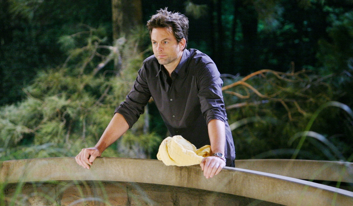 Adam on the bridge on Young and Restless