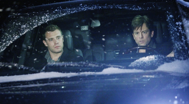 Billy and Adam in the car on Young and Restless