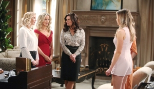Brooke Donna Katie hear news on Bold and Beautiful