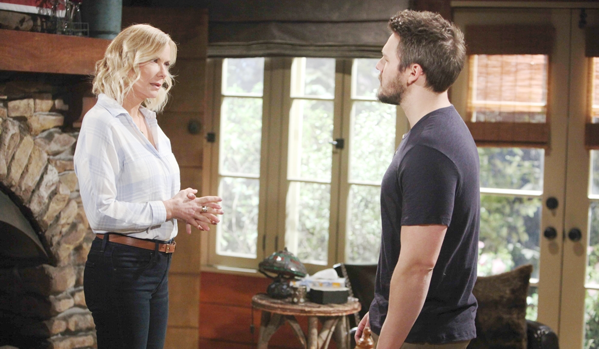 Brooke talks to Liam on Bold and Beautiful