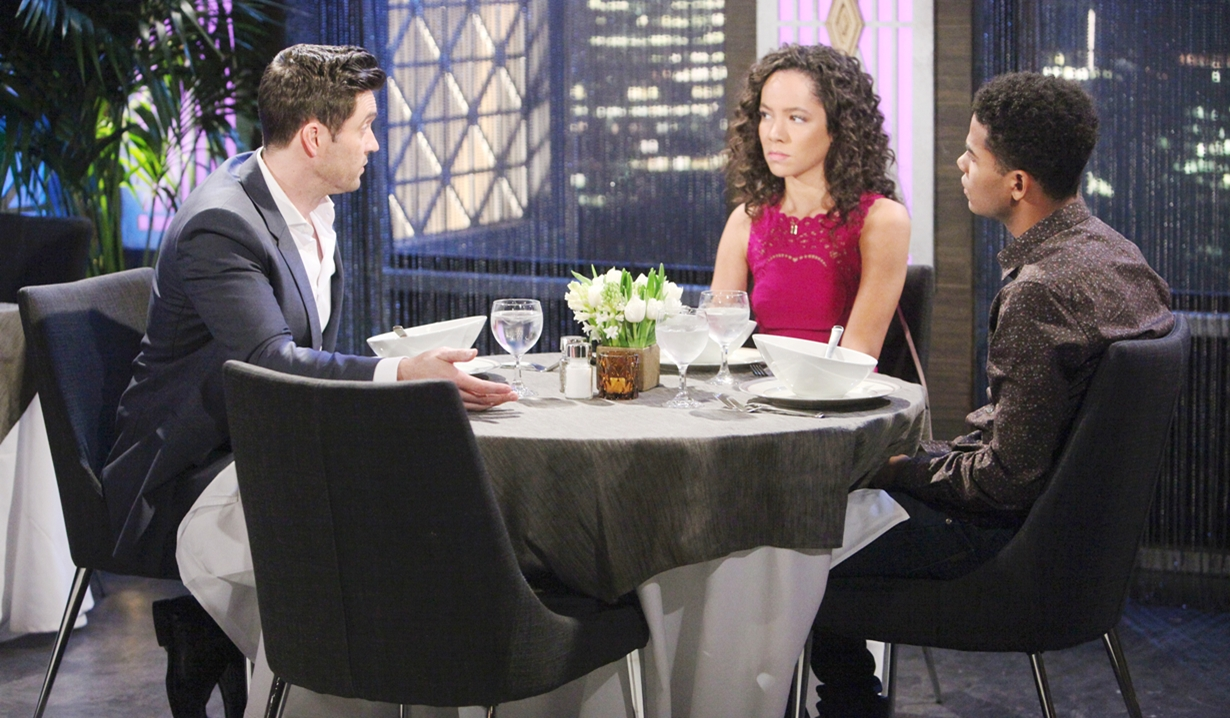 Cane talks to Mattie and Charlie on Young and Restless
