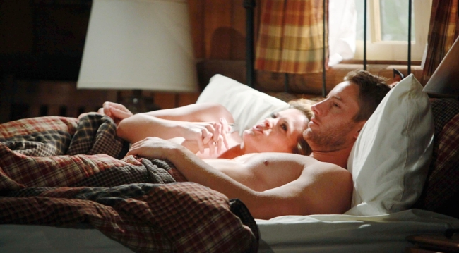 Chelsea and Adam at the cabin on Young and Restless