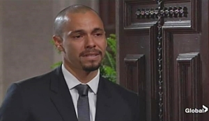 Devon arrives at funeral on Young and Restless