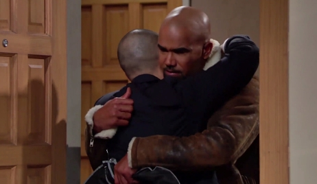 Devon hugs Malcolm on Young and Restless