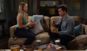 Flo and Wyatt discuss her DNA test on Bold and Beautiful