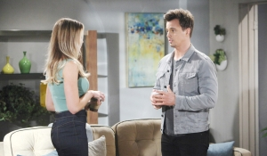 Flo and Wyatt father talk on Bold and Beautiful