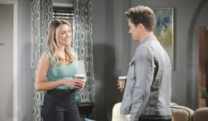 Flo smiles at Wyatt on Bold and Beautiful