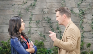 Brady angry at Gabi on Days of our Lives