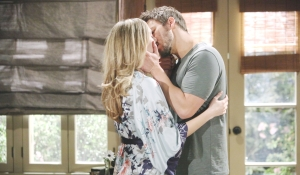 Hope and Liam kiss on Bold and Beautiful