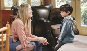 Hope smiles at Douglas on Bold and Beautiful