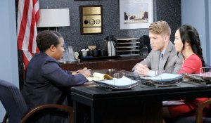 immigration agent smith questions tripp and haley on days of our lives