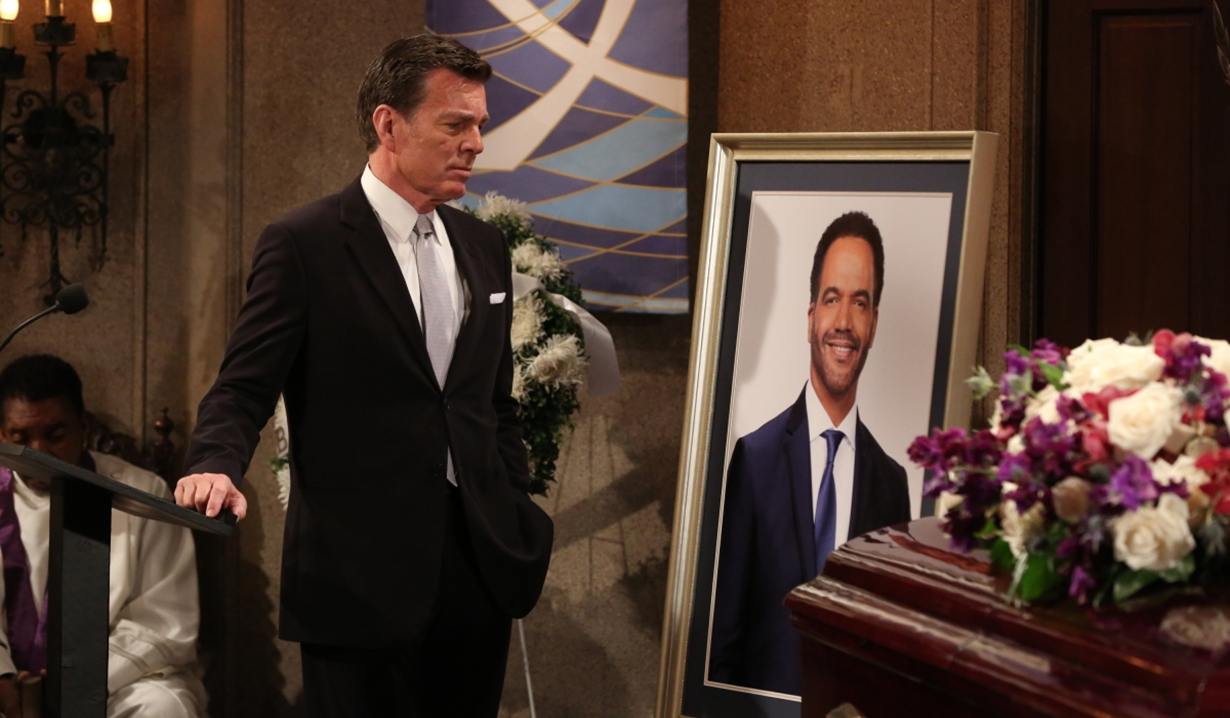 Jack at Neil's funeral on Young and Restless
