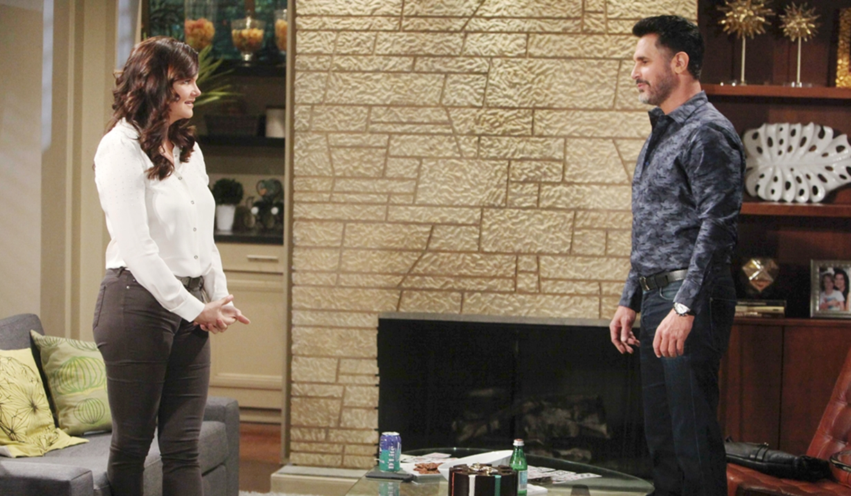 Katie and Bill discuss cupid on Bold and Beautiful