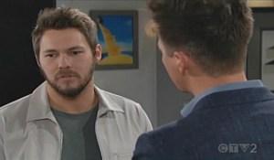 Liam talks to Wyatt on Bold and Beautiful