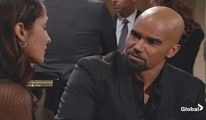Malcolm talks to Lily on young and restless