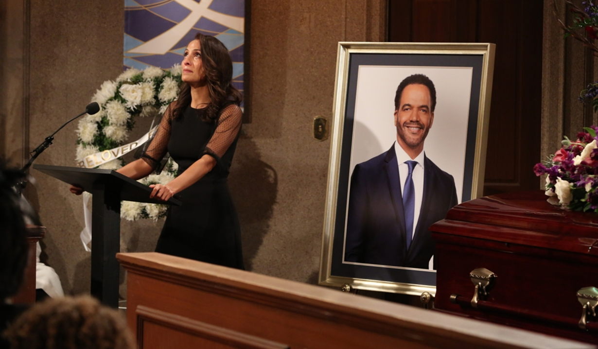 Lily at Neil's funeral on Young and Restless