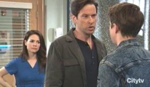 Liz and Franco argue with Cam General Hospital