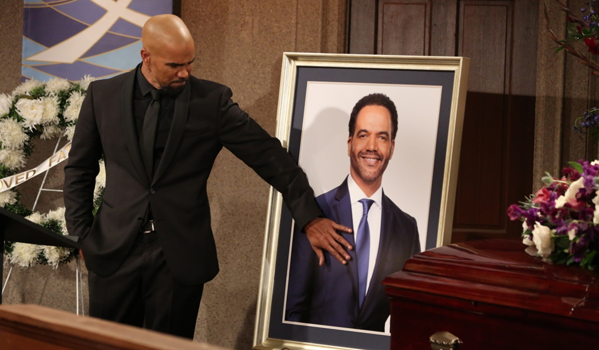 Malcolm at Neil's funeral on Young and Restless