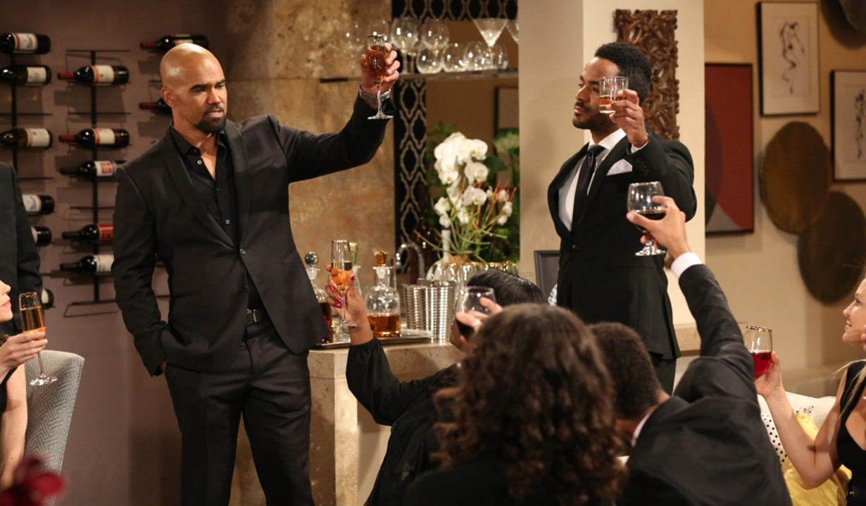 Malcolm toasts Neil on Young and Restless