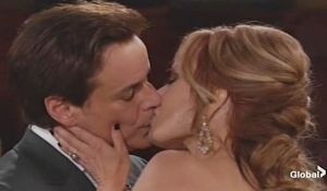 Michael Lauren kiss on Young and Restless