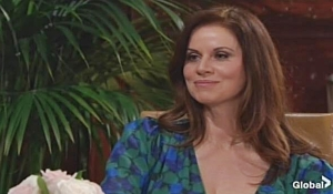 Rebekah Barlow meets with Billy on Young and Restless