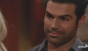Rey looks at Sharon on Young and Restless