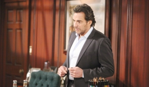 Ridge talks to Brooke in office on Bold and Beautiful