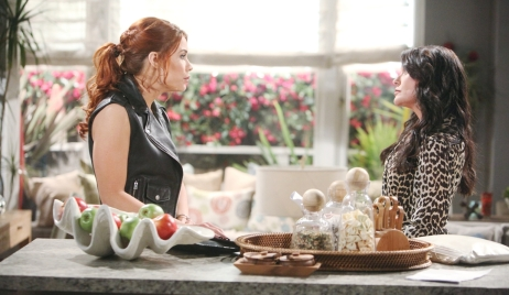 Sally's surprised by Quinn on Bold and Beautiful