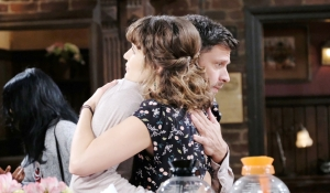 Sarah and Eric embrace on Days of our Lives