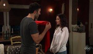 Shiloh blindfolds Sam on General Hospital